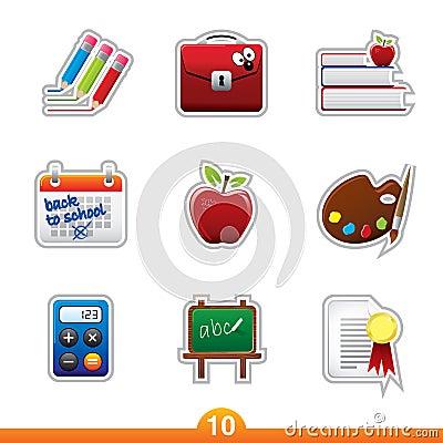 Icon sticker set - education
