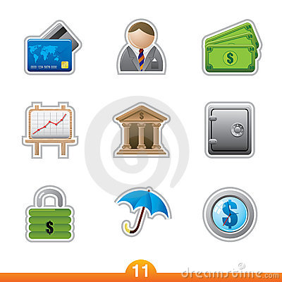Icon sticker set - finance