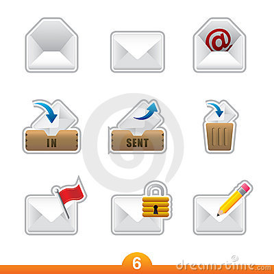 Icon sticker set - mail