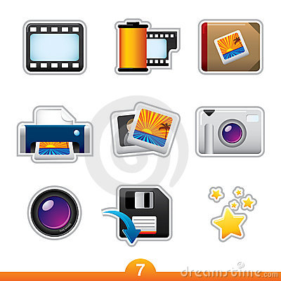 Icon sticker set - photography