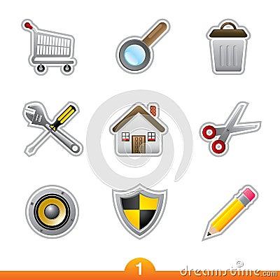 Free Icon Sticker Set - Web Universal Stock Photo - 13091270