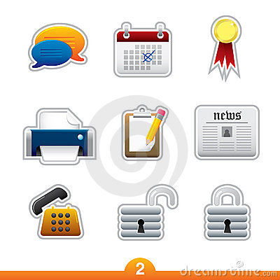 Icon sticker set - web universal
