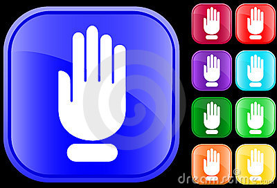 Icon of stop hand