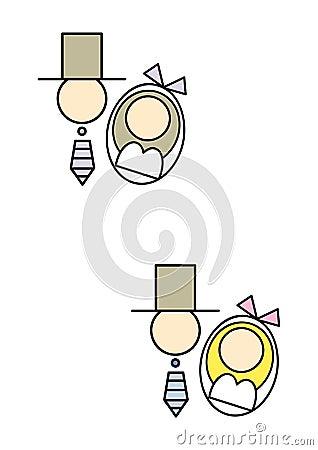 Icon/symbol: Bride and Groom