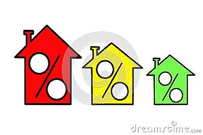 Icon three similar houses