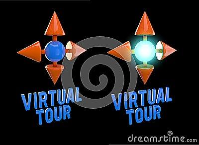 Icon virtual tour 3D