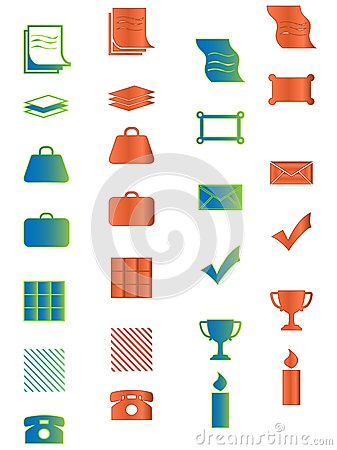 Icon for web, office, business and organizer prese