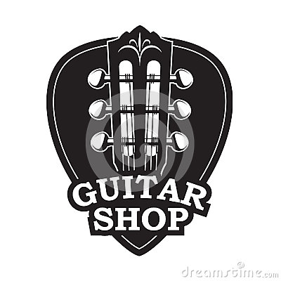 Free Icon With Guitar Neck And Pick Royalty Free Stock Photos - 84589968