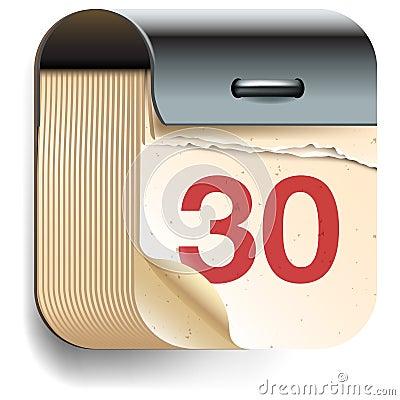 Icona della data di calendario
