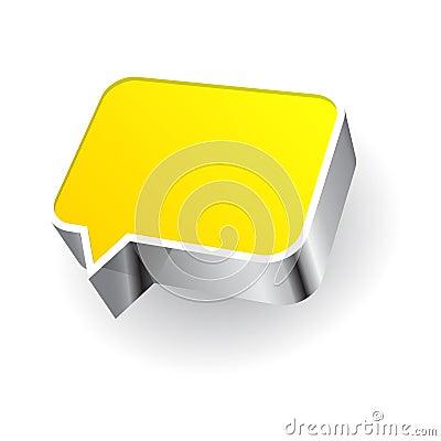 Icona di discorso su fondo bianco