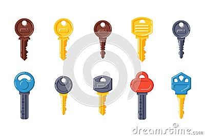 icona isolata vettore di chiave di sicurezza della porta ... - Decorativo Della Porta Di Sicurezza