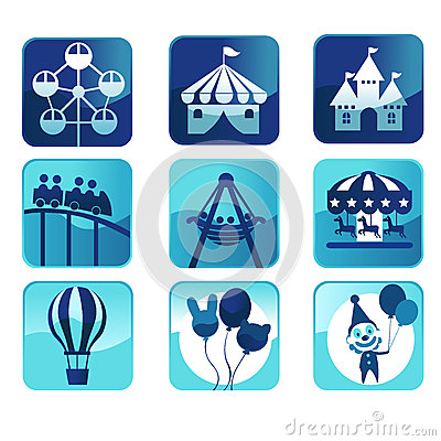 Icone del parco a tema