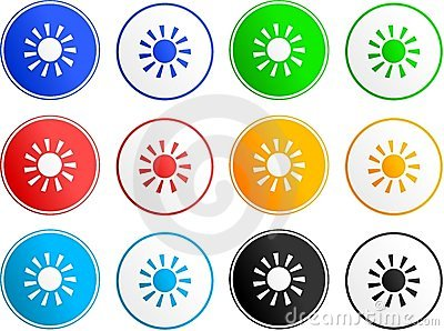 Icone del segno di Sun