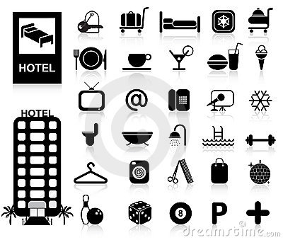 Icone dell hotel impostate