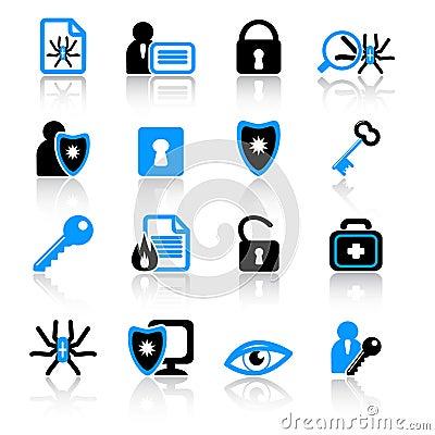 Icone di antivirus