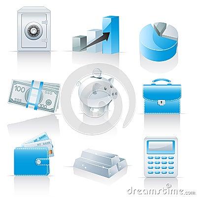 Icone di attività bancarie e di finanze