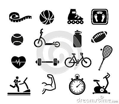 Icone di forma fisica e di esercizio