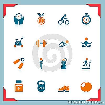 Icone di forma fisica | in serie del blocco per grafici