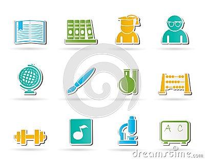 Icone di formazione e del banco