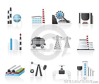 Icone di industria pesante