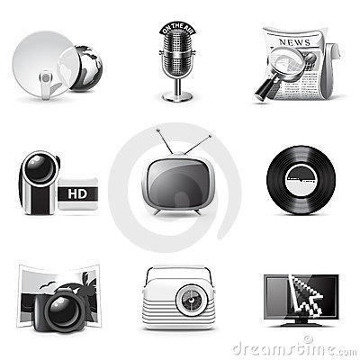 Icone di media | Serie di B&W