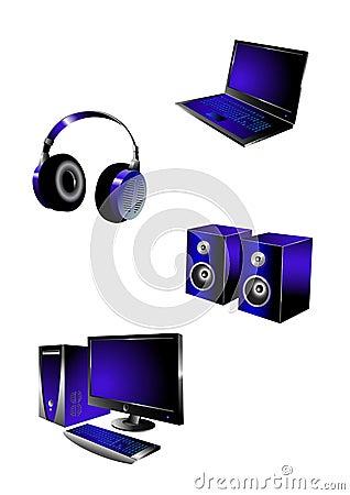 Icone di multimedia