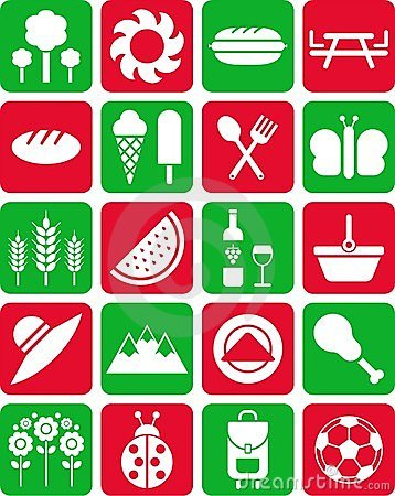 Icone di picnic