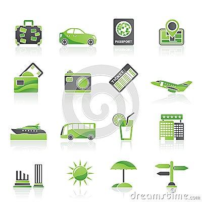 Icone di vacanza e di corsa