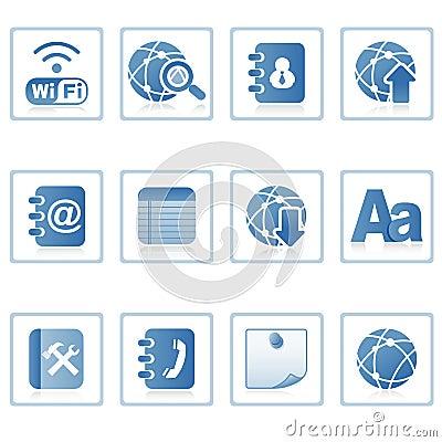 Icone di Web: comunicazione sul mobile