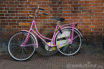 Iconic bicycles amsterdam holland netherlands