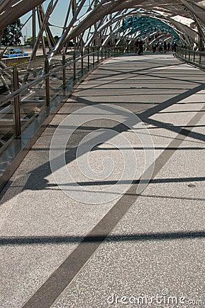 The Iconic Double Helix Bridge Editorial Stock Photo