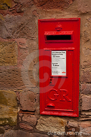 Iconic English Post Box