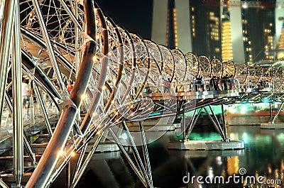 The iconic Helix Bridge Editorial Image