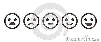 Iconic illustration of satisfaction level Vector Illustration