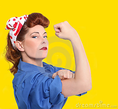 Iconic Image of a Female Factory Worker