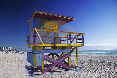 Iconic Lifeguard Hut, South Beach, Miami