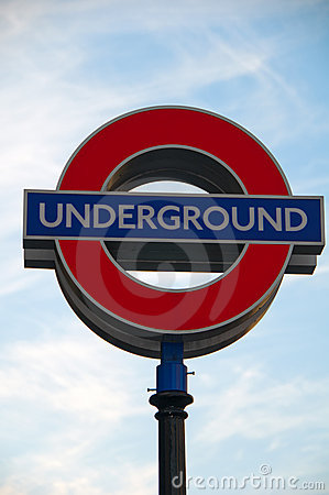 Iconic London Underground sign Editorial Photo