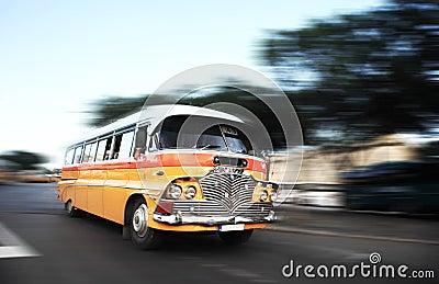 The iconic Malta bus