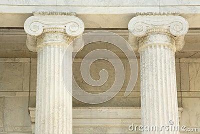 Iconic marble pillars