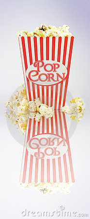 Iconic Striped Popcorn Carton