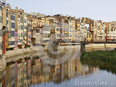 Iconic view of Girona