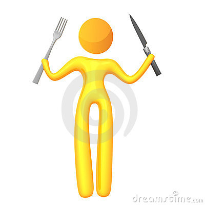 Icono amarillo elástico del humanoid preparado