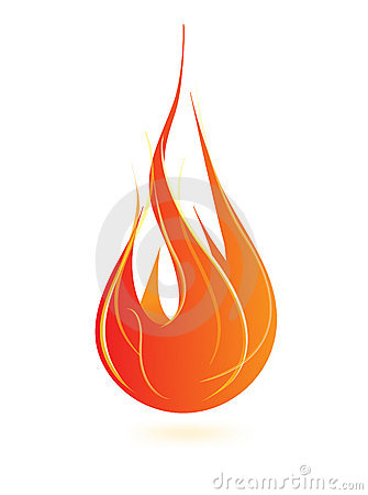 Icono de la llama del fuego