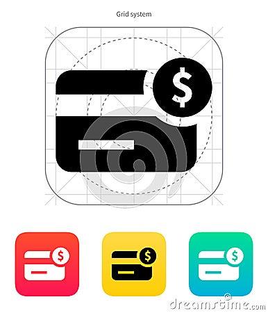 Icono de la tarjeta de crédito de la cantidad.