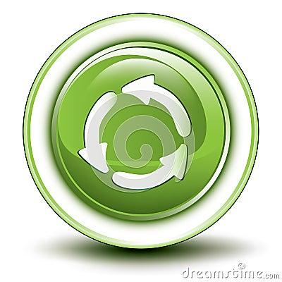 Icono de reciclaje ambiental