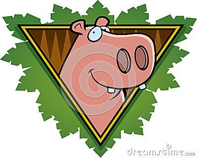 Icono del safari del hipopótamo