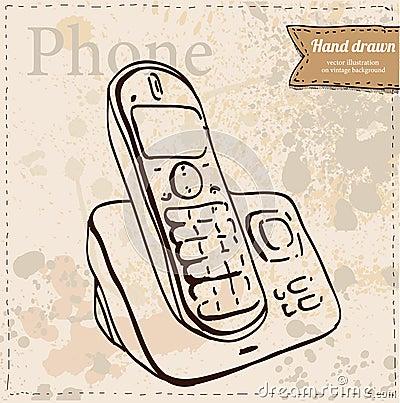 Icono del tel fono de la oficina ejemplo del vector for Telefono de la oficina