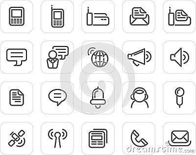 Icono llano fijado: Comunicación