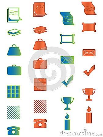 Icono para el Web, la oficina, el asunto y el organizador prese