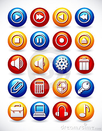 Iconos brillantes del Web